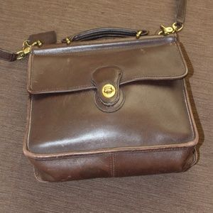 Coach Brown Leather Willis Bag